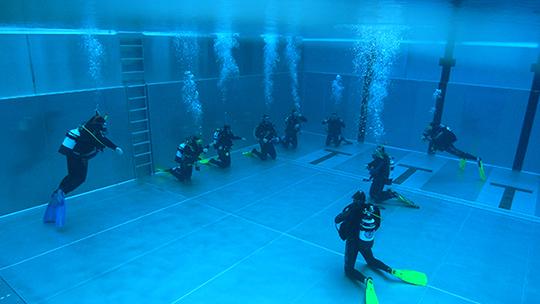 Viel Platz bei den Schwimmbad-Modulen
