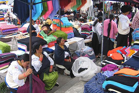 Markt an der Straße der Vulkane