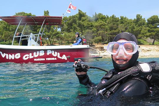 Abtauchen mit Diving Pula